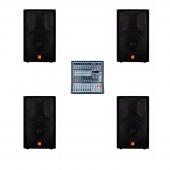 Звуковой комплект Maximum Acoustics CLUB.15 x 4 / Maximum Acoustics POWERMIX.7008