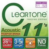 CLEARTONE 7411 ACOUSTIC PHOSPHOR BRONZE EXTRA LIGHT 11-52